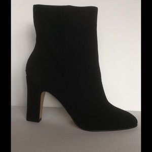 J. Crew black suede ankle boots